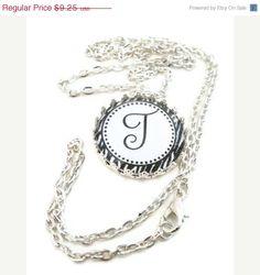 SALE Zebra Necklace Bottle Cap Jewelry Silver by JewelsbyTrish, $7.86