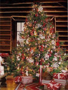 Cabin Christmas Morning