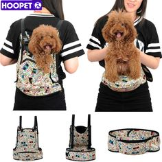 HOOPET All Seasons 3 Way Use Pet Carriers Travel Pack Canvas Camping Backpack Hiking Saddle Bag Shoulders Back Front Pack