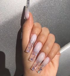 April 09 2020 at nails Bling Acrylic Nails, Simple Acrylic Nails, Best Acrylic Nails, Glitter Nails, Edgy Nails, Stylish Nails, Swag Nails, Grunge Nails, Cute Acrylic Nail Designs