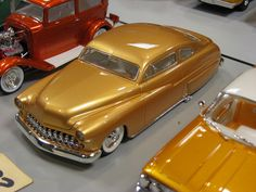Outstanding gold paint on this custom Merc.