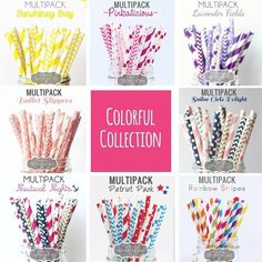 "As featured in 'Tori Spelling's Winter Must-Have List', 'CupcakeMAG', & 'Kara's Party Ideas'.These paper straws (25 in each yummy pack) are strong and sturdy and stand up well in liquid and are perfect for all celebrations, not only limited to drinking but can be used for cake pops, lollipops, cookie sticks, etc., and can be easily cut if you want them short :)SPECS: Length 7.75"" approx.  Multipack Straws paper party Outer Dia. 0.25""Made with Food Safe Ink (FDA approve..."