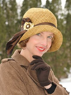 Client in Cloche Hat by Vintage Style Hats by Gail, via Flickr