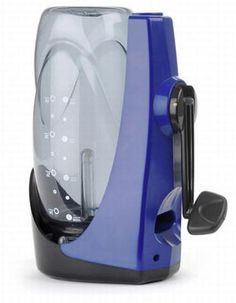 SteriPen Sidewinder - no batteries required, hand crank water purification!  Awesome.