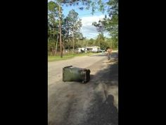 Bicycle fail. Trying to jump over trash can goes wrong
