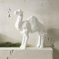 White Camel Sculpture | CB2