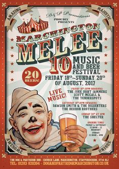 Marchington Melee Beer & Music Festival at The Dog & Partridge in Marchington, near Uttoxeter. Friday to Sunday August Burton On Trent, Partridge, Places To Eat, Will Smith, 18th, Sunday, Beer, Drink, Dog
