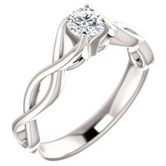1/2 Carat Diamond Infinity Symbol Engagement Ring ($1,925) ❤ liked on Polyvore featuring jewelry, rings, accessories, infinity ring, engagement rings, diamond jewelry, infinity jewelry and infinity engagement ring