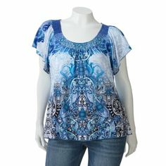 Apt. 9 Printed Sublimation Top - Women's Plus