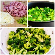Broccoli, Ham, and Mozzarella Baked with Eggs [found on KalynsKitchen.com]