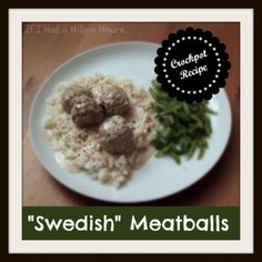 Swedish Meatballs - Crockpot Recipe