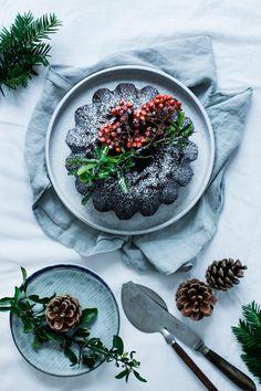 Chocolate Rosemary Bundt Cake. Perfect Holiday Dessert! #modernwifestyle #foodphotography