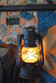Country Living ~ Lantern's amber glow