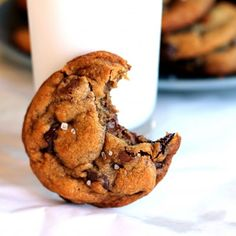 Nutella-stuffed Brown Butter + Sea Salt Chocolate Chip Cookies. These will change your life.
