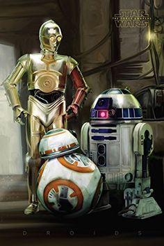 Star Wars: Episode 7 Poster R2-D2, C-3PO, BB-8 - Poster Großformat (61cm x 91,5cm)