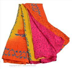 VINTAGE INDIAN SAREE PRINTED FABRIC PURE SILK SARI DECOR CRAFT 5 YARD DRESS