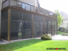 under deck screened in area | screening/Screen Repair Pet Resistant Screen Custom Built Wood Screen ...