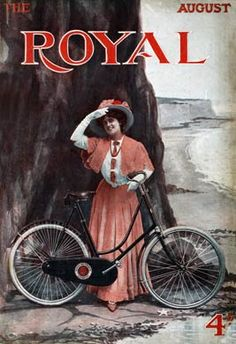 Royal, Cycling, 1905      Cover of the Edwardian magazine with a Lady cyclist
