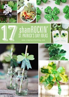 simple as that: 17 Shamrockin' St. Patrick's Day Ideas... a GREAT round up!