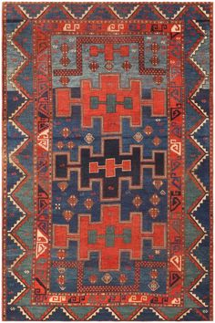 Antique Kazak Caucasian Rug 47041 Main Image – By Nazmiyal nazmiyalantiqueru… Persian Carpet, Persian Rug, Main Image, Magic Carpet, Large Rugs, Tribal Rug, Woven Rug, Floor Rugs, Kilim Rugs