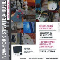 """Flyer exposition """"New-York"""".  Client : Artisti Galerie (http://artistigalerie.fr)"""