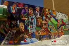 Winnipeg's Gas Station Theatre Mural Riding Mountain National Park, Arctic Tundra, Red Indian, Hudson Bay, Gas Station, White Roses, Canoe, Murals, Wilderness