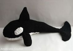 Orca Whale free crochet pattern by A[mi]dorable Crochet