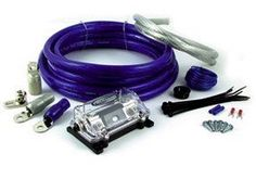 Tsunami AMP04BL-RCA 4 Gauge/1600 Watt Amplifier Install Kit with RCA and MANL Fuse Holder-Blue by Tsunami. $67.99. Tsunami has the right kit for your system. All kits have been upgraded to contain super flex cable. This cable offers a soft touch flexible PVC outer jacket and a newly wound cable for the ultimate in power transfer and flexibility.   Components: 17 feet (5.18m) 701 series twisted-pair shielded RCAcable 17 feet (5.18m) 4 gauge blue power cable   3 feet (914mm) 4...