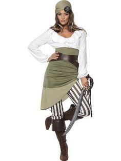 Piratinnenkostüm Piratenkostüm Freibeuter Karibik Kostüm Pirat Piratin Seeräuber Kostüm für Damen Damenkostüm 36 - 48 001
