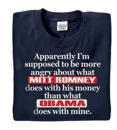 Mitt Romney and Obama T-Shirt - Anti Obama T-Shirt. $19.95, via Etsy. WANT! So getting.