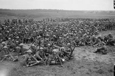 . Regiment Men resting at Louvencourt, 28th June 1916 (IWM Q719