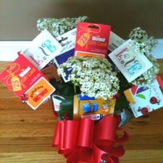 Gift card candy bouquet my style pinterest gift card bouquet negle Choice Image