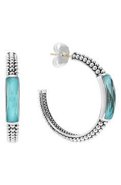 New LAGOS 'Maya' Caviar Hoop Earrings,Yellow Gold fashion online. [$495]newoffershop win<<