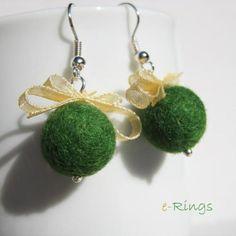 Pendientes - verde / e-Rings - Artesanio