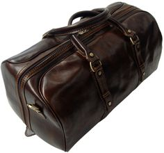 Genuine Italian Leather Holdall Dark Brown Available in 3 Sizes 3 Colours From £199.99
