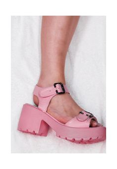 BROOME Block Heel Cleated Sole Sandal Shoes - Pink   Spy Love Buy   ASOS Marketplace