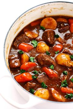 This Guinness Beef Stew recipe is so hearty and delicious, and perfect for St. Patrick's Day.   gimmesomeoven.com