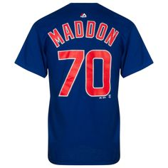 Chicago Cubs Men's Joe Maddon Player Tee-Shirt by Majestic #Chicago #Cubs #ChicagoCubs