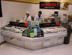 SHI - Sushi Prep & Display Case:  The SHI sushi merchandiser is the key piece to your sushi program regardless of store format or size. It brings the theater, customer interaction, and freshness of the service sushi bar to the 24/7 always-open sales ability of a self-service merchandiser. The SHI is available in various lengths, shapes, and depths and is optimal for sushi, but adaptable to prepared foods, cheese, deli, bakery and food service applications.