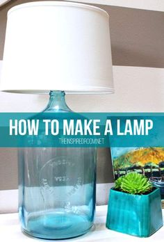 How To Make A Lamp...http://homestead-and-survival.com/how-to-make-a-lamp/