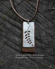 Handmade, pendant,silver925,wood, ασημι925,ξυλο, χειροποιητα κοσμηματα