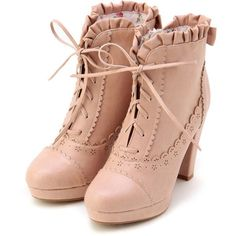 LIZ LISA old fashioned pink boots
