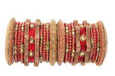 Red Golden Crystals Indian Handmade Jewelry Lac Bangles Set Bridal Jewelry Wedding Party Bracelets  #mycrystalbanglesdotcom #Bangle