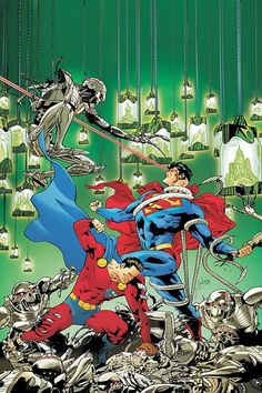 Superman and Mon El vs Brainiac by Cafu