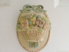 Christie Repasy Door | Pink flower basket Door Knocker. found a similar ... | Shabby Chic id ...