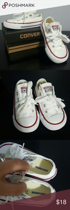 New! Toddler's White Converse Never worn. White. Price firm! Will come with original box. Converse Shoes Sneakers
