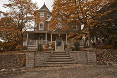 Victorian home during the fall