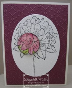 Stampin Up Best thoughts stamp set. spotlighting technique.