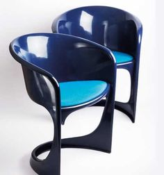 The 291 armchair designed in 1968 by Danish designer Steen Ostergaaard. here seen in blue. Feature also in the James Bond movie from 1977 The Spy Who Loved Me, Nobody does it Better!