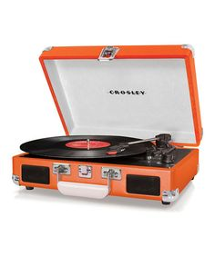 Take a look at this Orange Cruiser Turntable by Crosley on #zulily today!